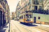 Beautiful Tramway in  Lisbon, Portugal — Stock Photo