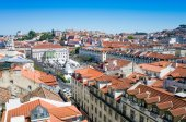 Traditional old buildings in Lisbon, Portugal — Stock Photo