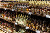 Department of alcohols in Duty Free Shop — Stock fotografie