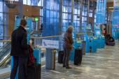 Check in machine at Oslo Gardermoen International Airport — Stock Photo