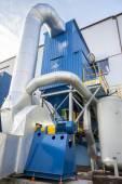 Blue fumes ventilator — Stock Photo