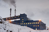 Power station in Barentsburg - Russian village on Spitsbergen — Stock Photo