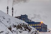 Power station in Barentsburg - Russian village on Spitsbergen — Stock Photo