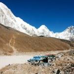Gorak Shep village and Kala Patthar view point on Everest, Pumo Ri and Nuptse - Nepal — Stock Photo #52790725