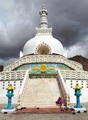 Tall Shanti Stupa near Leh, Ladakh, India  — Stock Photo