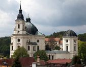 Pilgrimage Church and monastery in Krtiny — Stock Photo