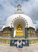Detail of Tall Shanti Stupa near Leh — Stock Photo