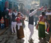 Folkloric festival in Dunai village - Nepal — Stock Photo