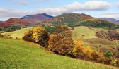Autumnal view of strazov mount in strazovske vrchy — Stock Photo
