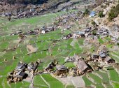Dogadi village - beautiful village in Western Nepal — Stock Photo