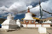 Stupas and Friendship Gate in Leh — Stock Photo