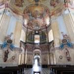 Interiors of Pilgrimage Church in Krtiny village — Stock Photo #54400935