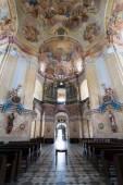 Interiors of Pilgrimage Church in Krtiny village — Stock Photo