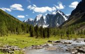 Savlo szavlo valley and rock face - altai — Stock Photo