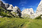 Southern side of marmolada- top of dolomiti italy — Stock Photo