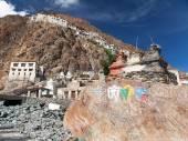 Karsha gompa - buddhist monastery in Zanskar valley — Stock Photo