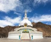Tall Shanti Stupa  Leh - Jammu and Kashmir - Ladakh — Stock Photo