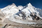 Beautiful view of mount Everest, Lhotse and nuptse — Stockfoto
