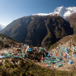 Namche Bazar and mount Kongde — Stock Photo #64291309