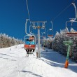 Chair lift on Mount Serak for downhill skiers — Stock Photo #66208229
