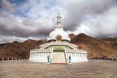 Tall Shanti Stupa near Leh — Stock Photo