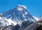 Top of Mount Everest from Gokyo valley — Stock Photo