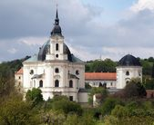 Pilgrimage Church and monastery in Krtiny village — Stock Photo