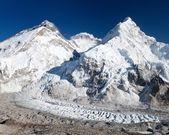 View of Mount Everest, Lhotse and Nuptse — Stock Photo
