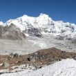 Panoramic view of mount Cho Oyu — Stock Photo #73374401