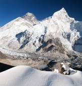 Everest, Lhotse and Nuptse from Kala Patthar — Stock Photo