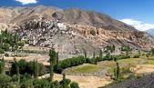 Lamayuru gompa - buddhist monastery in Indus valley — Stock Photo