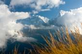 View from Poon Hill view point to Annapurna Hymal — Stock Photo