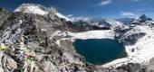 View from kongma la pass - sagarmatha national park — Stock Photo