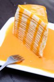Orange crepe cake — Stock Photo