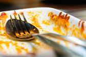 Finished pasta plate — ストック写真