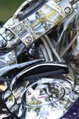 Chrome motorcycle — Stock Photo