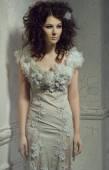 Ghost girl in white dress — Foto Stock