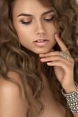 Портрет женщины с мода макияж — Стоковое фото