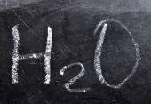 H2O formula — Foto de Stock