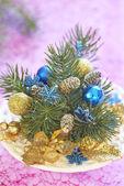 Christmas bouquet — Stock Photo