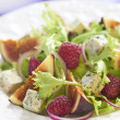 Fresh salad with blue cheese, raspberry and figs — Stock Photo #52560825