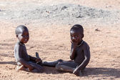 Unidentified child Himba tribe in Namibia — Foto Stock