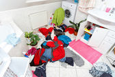 Dirty clothes ready for the wash — Stockfoto