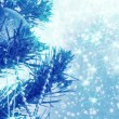 Blue christmas background with balls on tree and snowflakes — Stock Video #60199795