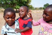 Dirty and poor Namibian childrens — Stock Photo