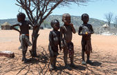 Unidentified child Himba tribe in Namibia — Stock Photo