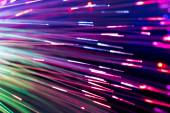 Optical fibres abstract blurred technology background — Стоковое фото