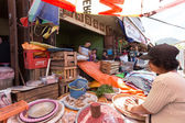 Traditional Marketplace with local fruit in Tomohon City — Stock Photo