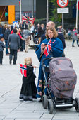 People during Constitution Day in Stavanger, May 2014 — Stock Photo