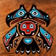 Totem bird with two heads — Stock Photo #64344473